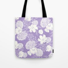 SKETCHY FLORAL: DUSTY LAVENDER Tote Bag