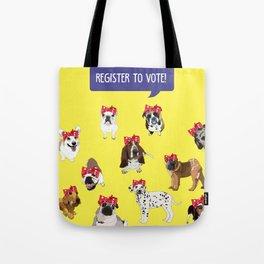 Political Pups-Register to Vote! Tote Bag