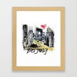 I love Beijing Framed Art Print