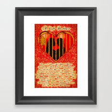 LOVE MY PERFECT PRISON  - 020 Framed Art Print