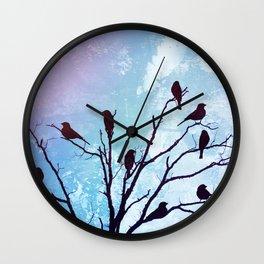 Blackbirds Tree Modern Cottage Chic Farmhouse Home Decor A503b Wall Clock