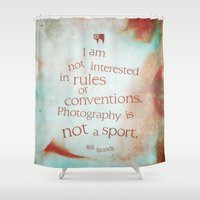 sport Shower Curtains featuring not a sport by tsg.quotes