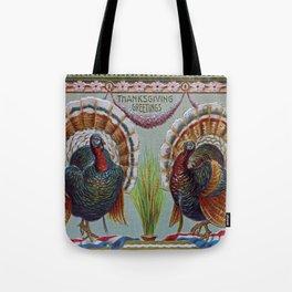 Thanksgiving Greetings 1906 Tote Bag