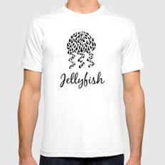 Jellyfish B&W SMALL White Mens Fitted Tee