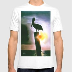 PELICAN PATROL White Mens Fitted Tee MEDIUM