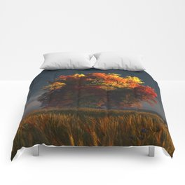 Red and Gold Comforters