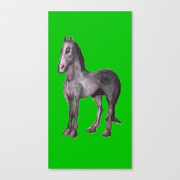 Noble Steed (green) Canvas Print