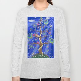 Mandala Tree of Life and Love Long Sleeve T-shirt