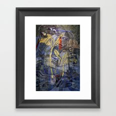 Blue Thoughts Framed Art Print