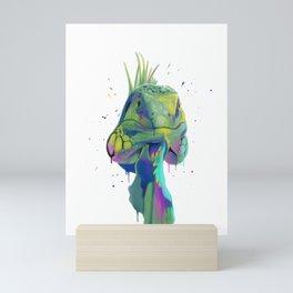 Splash Iguana Mini Art Print