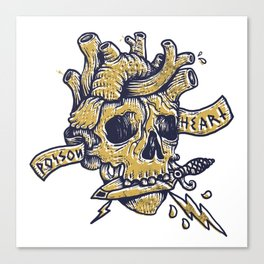 Poison Heart Canvas Print