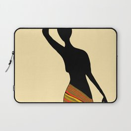 Silhouette of Village Woman, Meru Kenya Laptop Sleeve