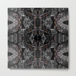Rattlesnake Skin Motif Metal Print