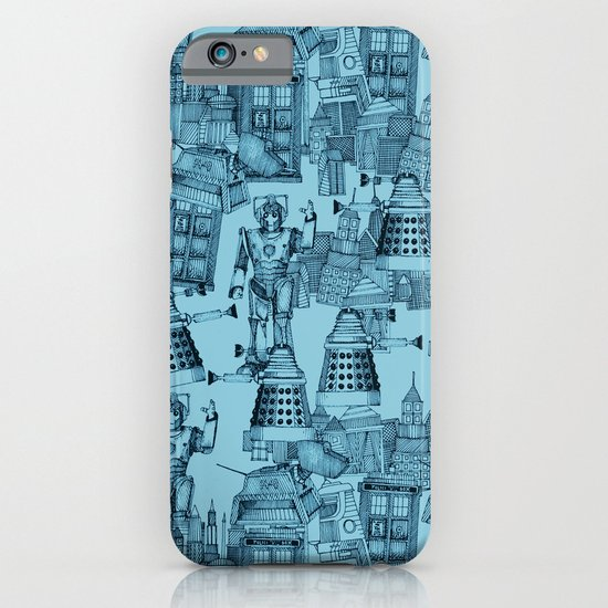 Doctor Who Toile de Jouy | 'Walking Doodle' | Turquoise iPhone & iPod Case