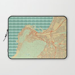 Cape Town Map Retro Laptop Sleeve