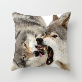 Laying down the law Throw Pillow