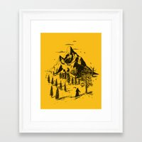 home sweet home Framed Art Prints featuring Home! Sweet Home! by nicebleed