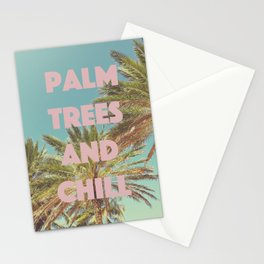 Palm Trees and Chill Stationery Cards