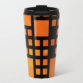 Visopolis V1 - orange flames Travel Mug