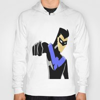 nightwing Hoodies featuring Nightwing by LouisaD