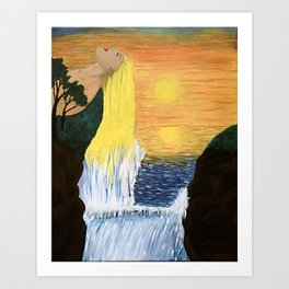 Golden River Beauty Art Print