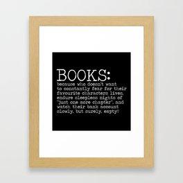 The Harsh Reality... (inverted) Framed Art Print