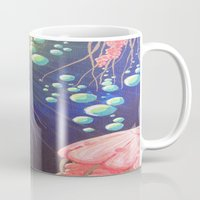 jelly fish Mugs featuring Jelly Fish by Little Mama