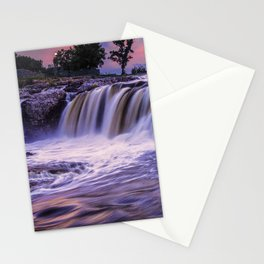 Sunset Waterfalls in Sioux Falls Stationery Cards