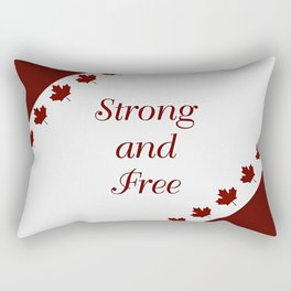 Canada - Strong and Free Rectangular Pillow