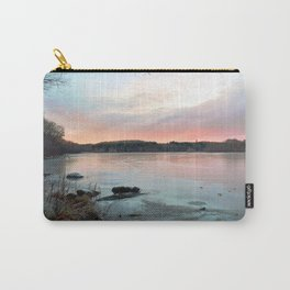 Connecticut Lake Sunrise Carry-All Pouch
