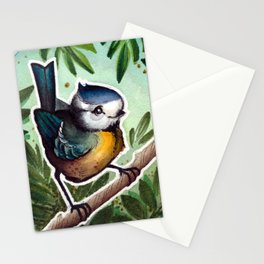 blue tomtit Stationery Cards