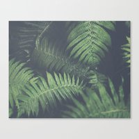 fern Canvas Prints featuring fern by elle moss