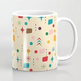 Atomic Pattern Beige Red  #midcenturymodern Coffee Mug