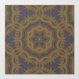 Goldblue Mandalic Pattern 5 Canvas Print