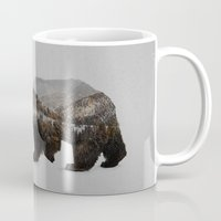 trees Mugs featuring The Kodiak Brown Bear by Davies Babies
