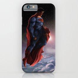 Superman Listening  iPhone Case