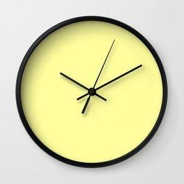 Retro Pastel Yellow Wall Clock