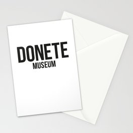 DONETE MUSEUM logo text design in black&white Stationery Cards