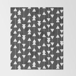 Arrowhead - Black Throw Blanket