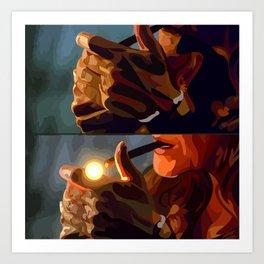 Lock, Stock and Two Smoking Barrels Art Print