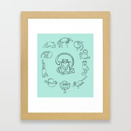 Yoga cats 2 Framed Art Print