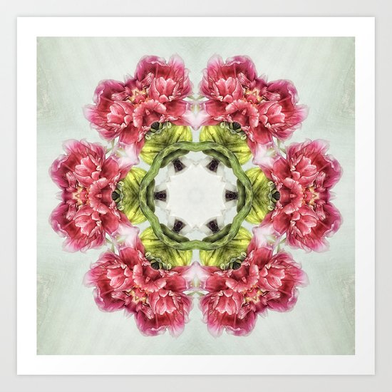 garden bulbs N°2 (pattern/pillow) Art Print