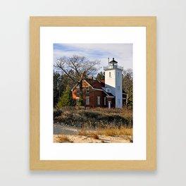 40 Mile Point Lighthouse Framed Art Print