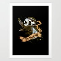 hufflepuff Art Prints featuring Hufflepuff by Markusian