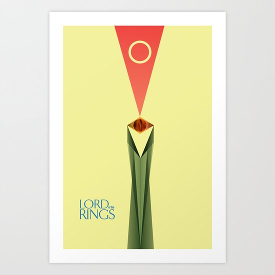 Lord of the Rings Minimal Film Poster Art Print
