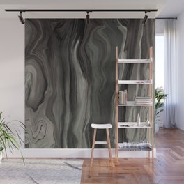 Marblesque Black and Gray - Abstract Art Marble Series Wall Mural