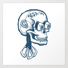 Climbing | Rock On Skull Art Print