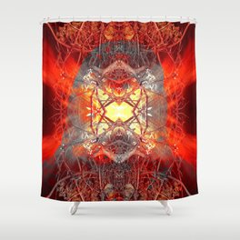 Spontaneous human combustion Shower Curtain