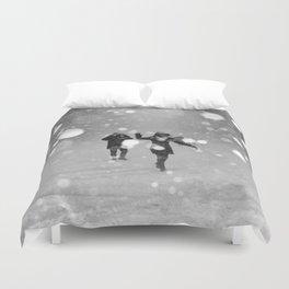 Snow in winter Duvet Cover