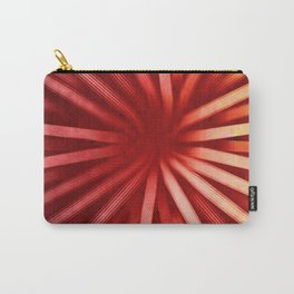Intersecting-Red Carry-All Pouch